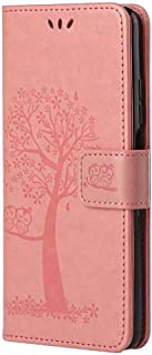 Nadoli Wallet Case for Samsung Galaxy A21 FE,Creative Funny Tree Owl Embossed Premium PU Leather Wrist Strap Bookstyle Pro...