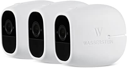 3 x Silicone Skins Compatible with Arlo Pro & Arlo Pro 2 Smart Security - 100% Wire-Free Cameras - by Wasserstein (3 Pack, White)