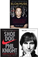 Elon Musk How The Billionaire Ceo Of Spacex, Shoe Dog A Memoir By The Creator Of Nike, Steve Jobs The Exclusive Biography ...