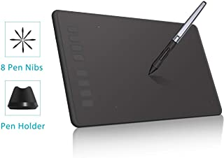 Huion Battery Free Tablet H950P Graphic Drawing Tablet with 8192 Levels of Pen Pressure 8 Express Keys