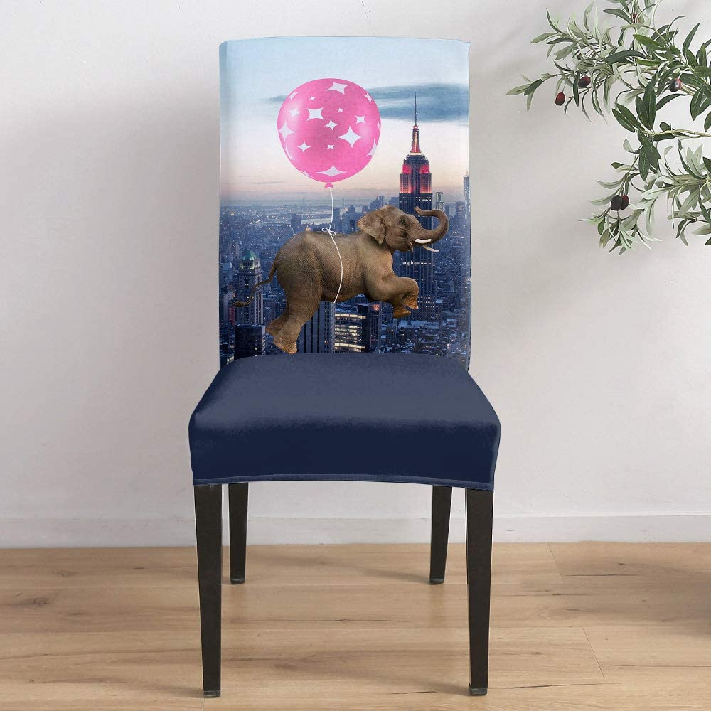 Dining Room Sale item Stretch Department store Chair Cover Elephant with Ba Funny Slipcover