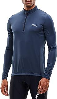 XGC Herren Kurzarm/Langarm Radtrikot Fahrradtrikot Radshirt Fahrradshirts Fahrradbekleidung für Männer mit Elastische Atmungsaktive Schnell Trocknen Stoff