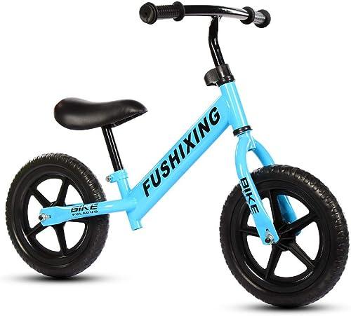 TH - Vélo Draisienne Enfants Garcons Filles DE 2-6 Ans Vélo sans Pédales, Hauteur du Siège Réglable,12 Pneu EVA Pouces ~( ̄▽ ̄~)