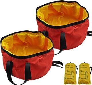 Rainleaf Collapsible Water Bucket Bag Backpacking Bucket Travel Bucket Portable Wash Basin Travel Dog Bowl