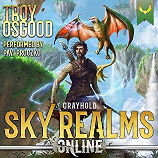 Sky Realms Online: Grayhold: A LitRPG Adventure audiobook cover art