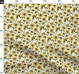 Sonnenblumen, Blumen Stoffe - Individuell Bedruckt von