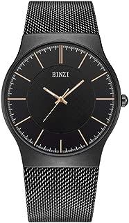 Men's Stainless Steel Waterproof Watches Mesh Strap Business Wrist Watch Women's Fashion Casual Quartz Watch Rose Gold - BZ3702