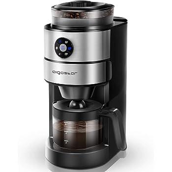 Aigostar Kaffa 30LHX - 2 en 1 Cafetera eléctrica con molinillo ...