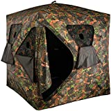 VULTURE Ground Hunting Blind Camouflage Oxford Fabric Pop-up Portable 3 Person Blind 65' x 65'x 74' Hunting Blind