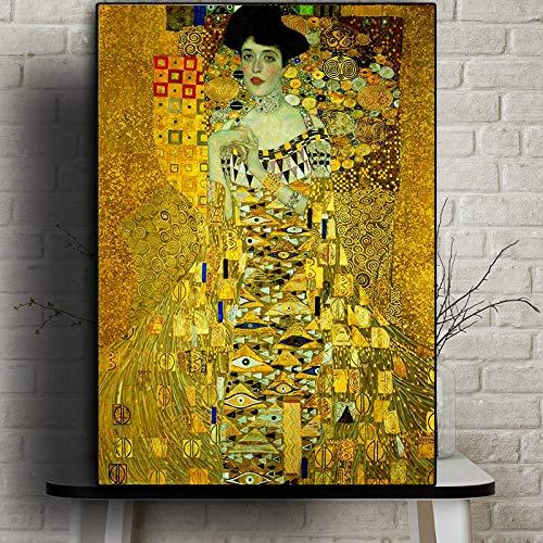 Póster artístico de Gustav Klimt, decoración moderna del hogar, pintura en lienzo, impresión HD, imagen artística de pared Retro para sala de estar 50x70 CM (sin marco)