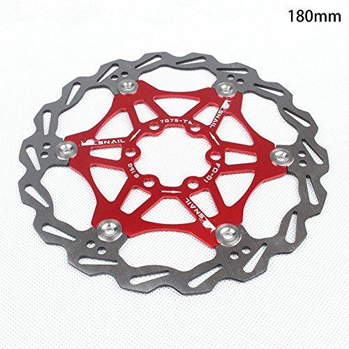 flower205 Freno de Disco de Bicicleta Caracol, Freno de Disco Flotante de Rotor