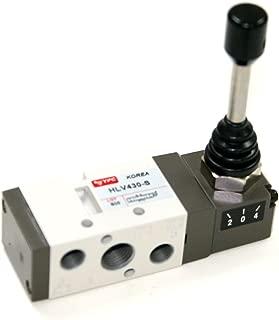 PneumaticPlus HLV431-S, 5 Port 3 Position Air Directional Control Valve 1/4