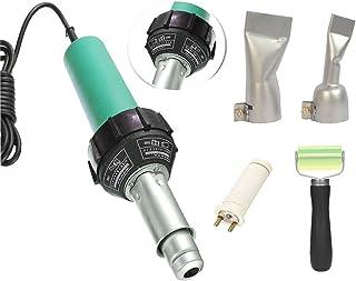 Beyondlife 1600W Plastic Welder Hot Air Welder Heating Gun PVC Vinyl Rod Welding Hot Gas Pistol Tool Kit with Two Flat Speed Nozzles