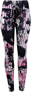 Qootent Women Yoga Pants Tie Dyed Pencil Leggings Fitness Sport Fashion Trouser
