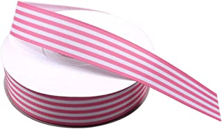 pink and white striped ribbon