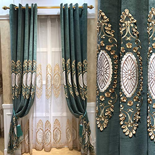 WBXZAL-Vorhänge maßgeschneiderte europäische fertig - Vorhang Wohnzimmer Luft Villa Boden Vorhang Vorhang Vorhang bildschirme,Zwei und fünf,gardinen