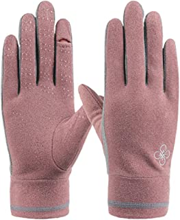 XuHang Women Fitness Half Finger Gloves Breathable Mesh Training Weightlifting Mittens for Walking Dog Running Cycling