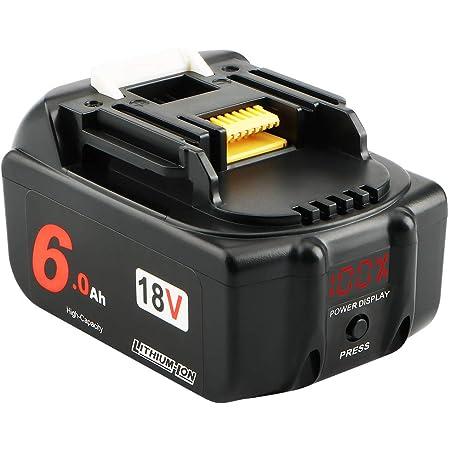 Topbatt 2X BL1860B 18V para Makita Bater/ía de Repuesto BL1860 BL1850B BL1850 BL1830 BL1835 BL1845 BL1815 LXT-400 con indicador LED Taladro Inalambrico Herramientas el/éctricas