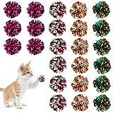 Pelotas de Juguetes Gato Bolas Arrugadas Coloridos con Sonido Crujiente Juguetes Interactivos para Gato Gatito 24 Piezas