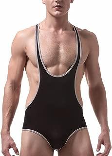 iYYVV Men's Undershirt Underwear Sexy Tank Tops Bodysuit Nightwear Jumpsuits Shorts