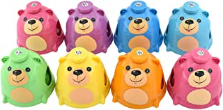 MUSICUBE 8 Note Hand Desk Bell Set, ABS Plastic Kids Hand Desk Bell, Shape of Bear