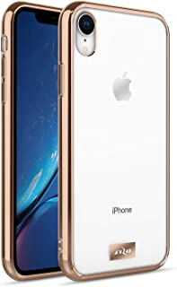 ZIZO Refine Series iPhone XR Case Slim Clear with PC Metallic Bumper Gold Clear