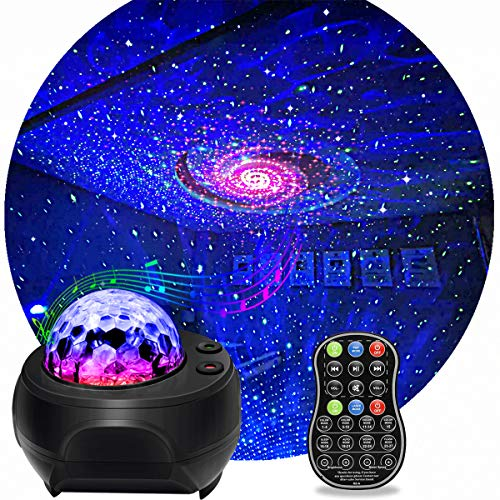 Star Light Projector, KisMee LED Nebula Projector with Galaxy Starry Projector Light Build-in...