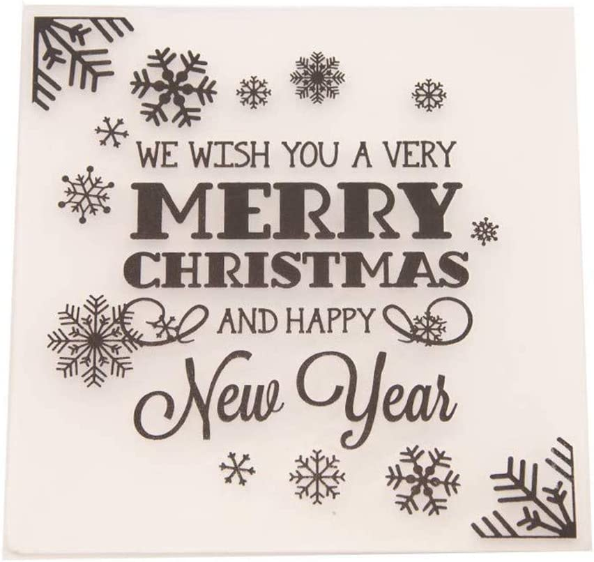 Merry Christmas Happy New Year Plastic for Scra Folder Embossing OFFicial store Attention brand