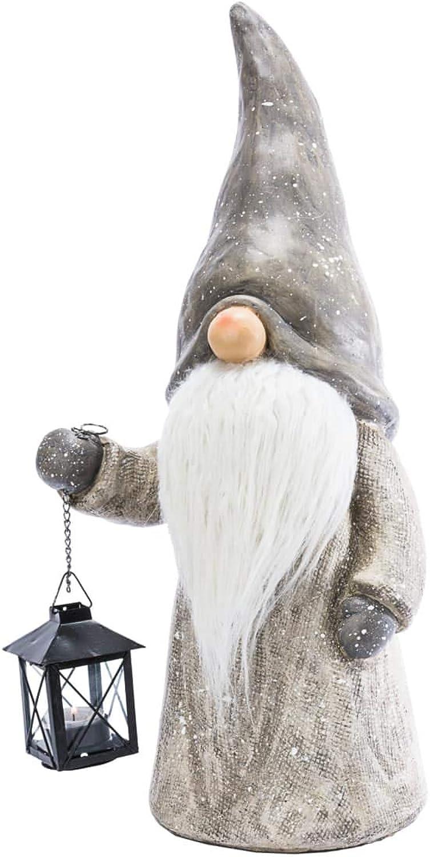 Purotay Purotay Purotay Weihnachtsdeko - Dekofigur Wichtel Toby - Mit Teelichthalter - Grau - Höhe ca. 50 cm B01LY4T114 d2a112