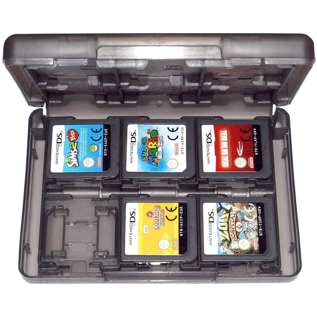 地上でスマート値するTOOGOO ゲームホルダーケース 3Ds 2Ds Ds Cartridge 24in1 Travel Black Zedlabz用