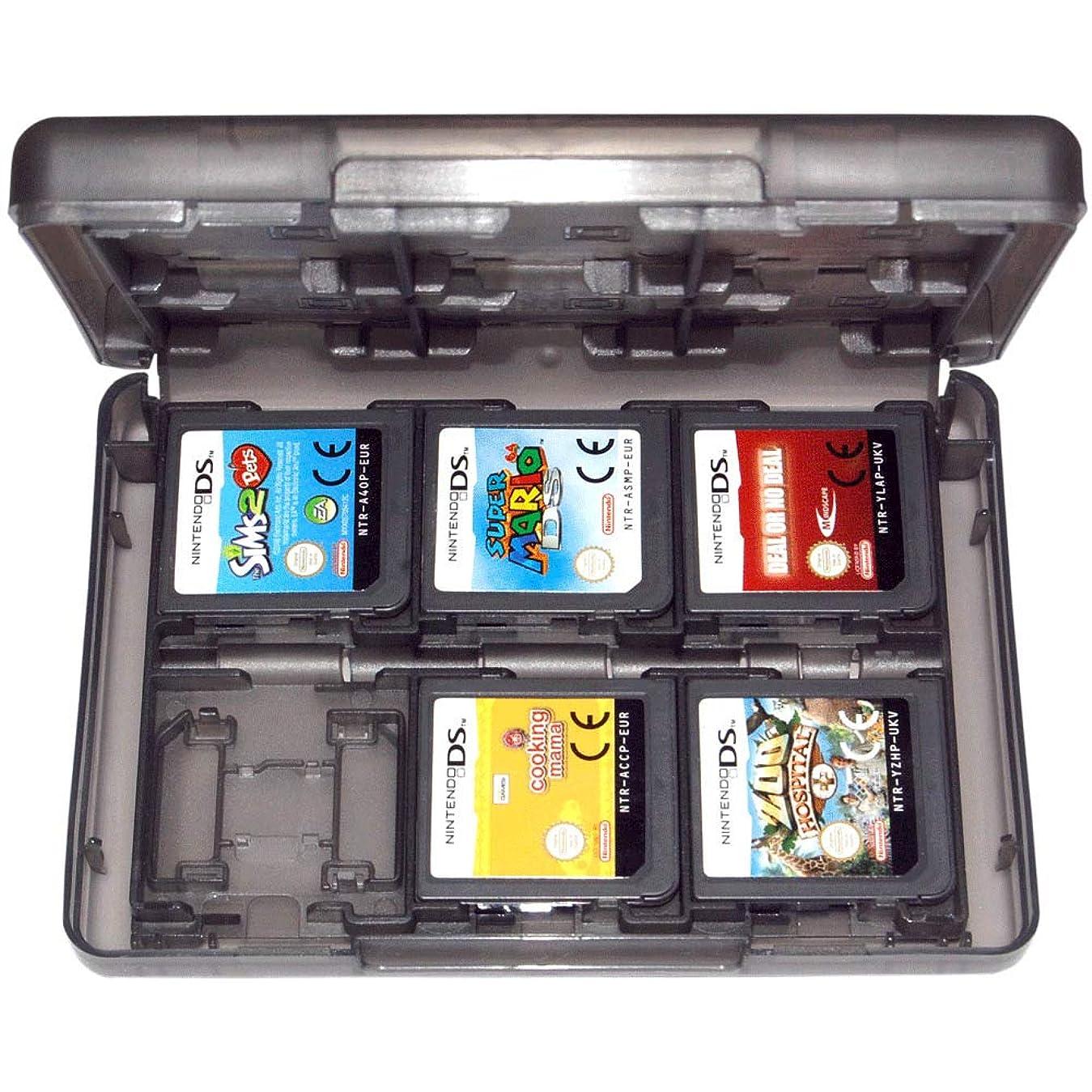 匹敵しますナプキン放棄されたRETYLY ゲームホルダーケース 3Ds 2Ds Ds Cartridge 24in1 Travel Black Zedlabz用