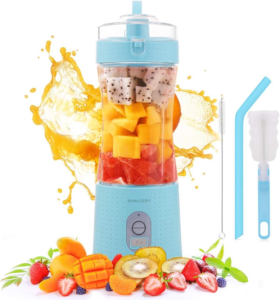 SVALOSK Portable Personal Size USB Blender for Shakes and Smoothie