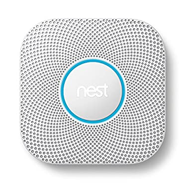 Nest (S3003LWES) Protect Smoke and Carbon Monoxide Alarm, Protect Your Home From Fire and Gas Leaks, Even When You're Away, Wired (Second Generation)