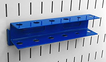 Wall Control Pegboard Screwdriver Holder Bracket Slotted Metal Pegboard Accessory Pegboard and Slotted Tool Board – Blue