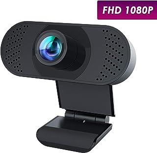 usogood Webcam HD 1080P PC Cámara Web con micrófono con cancelación de Ruido y Clip Giratorio para PC/Mac/Laptop/Macbook/Tablet para transmisión en Vivo, videollamadas, lecciones en Vivo