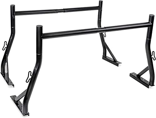 TAC Ladder Rack Fit 2015-2020 Chevy Colorado//GMC Canyon 2 Bars Rack 500 LBS Capacity Utility Contractor Adjustable Truck Bed Pick up Cargo Carrier