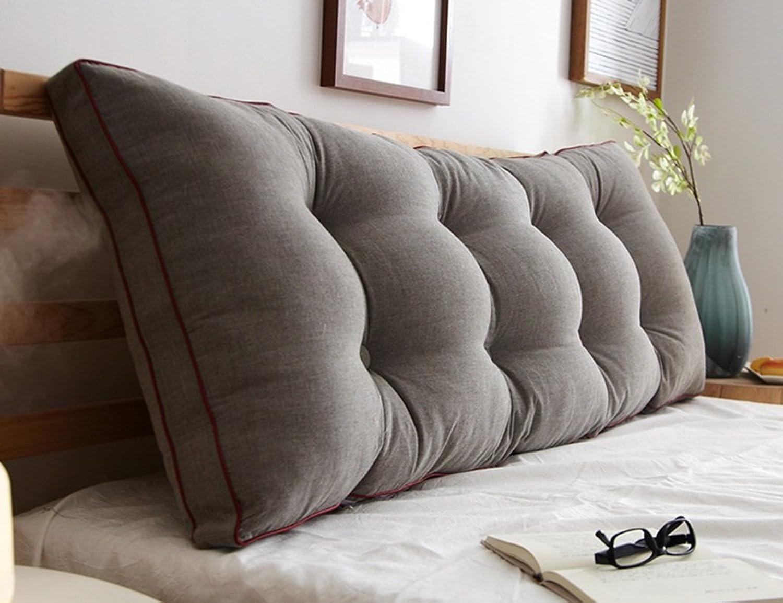 WSWJJXB Grand Coussin de canapé - Double Oreiller Long, Oreiller en Coton, Grand Dossier (Plusieurs Tailles Disponibles) (Taille   200  15  50cm)