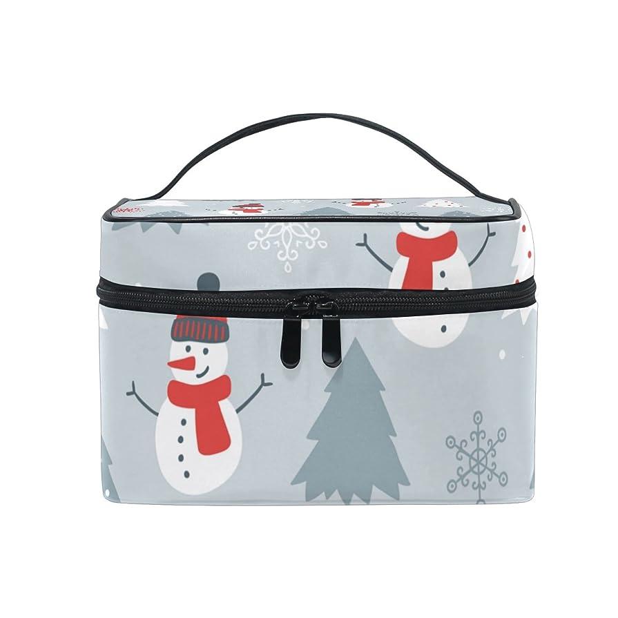 簡単に寺院効能ALAZA 化粧ポーチ 雪柄 ゆき柄 化粧 メイクボックス 収納用品 グレー 大きめ かわいい