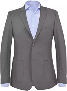 Tidyard Men's Business Blazer Combinewith Shirt and Jeans Fit Wedding Tuxedo Anthracite Size 52