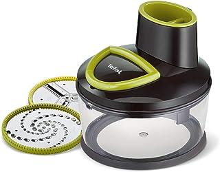 Tefal Découpe légumes 5 secondes manuel, Bol 1,2 L, 2 disques en acier inoxydable haute qualité, Râper + trancher en un se...