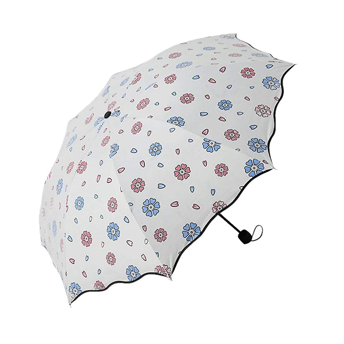 Creative Windproof Sun Protection Umbrella, Portable Lightweight Outdoor Golf Umbrella,Strengthen The Portable Windproof Frame for Men and Women (Color : White)