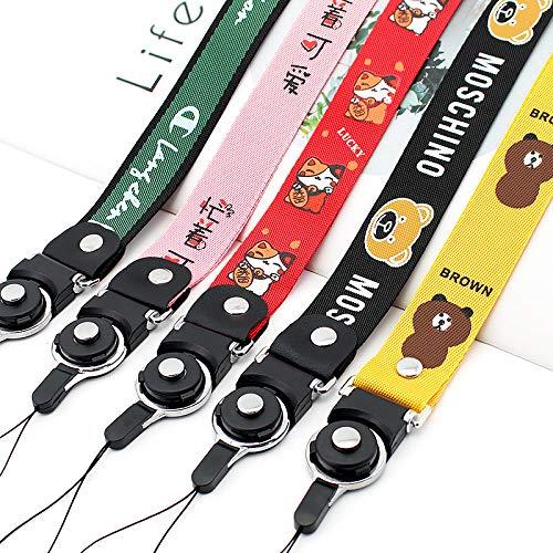 Teléfono móvil desmontable Cordón corto portátil Cordón de cuerda de mano para llaves Correa de cable de teléfono Llavero Correa de muñeca Llavero Llavero, E