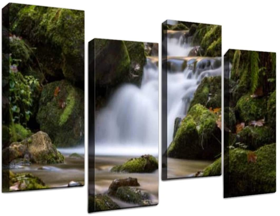 Gisas Enall Be super welcome 4 Piece Canvas Wall Art-Scenic discount of coniferous Fo View