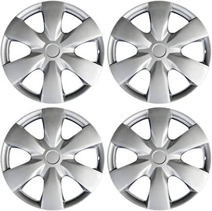 15 inch Hubcaps Best for 2007-2009 Toyota Prius - (Set of 4) Wheel Covers 15in Hub Caps Silver Rim Cover - Car Accessories for 15 inch Wheels - Snap On ...