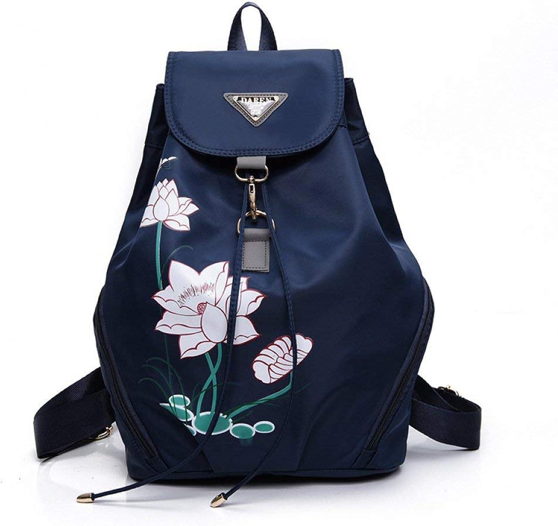 Eastery Handtasche Damenmode Casual Lotus Leichte Rucksack Student Bag Rucksack Taschen Einfacher Stil Damen Mnner Handgepaeck, (Farbe   Blau, Größe   One Größe)