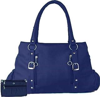 Bellina® Women's Handbag Navy Blue Color Shoulder Bag and Wallet for Women