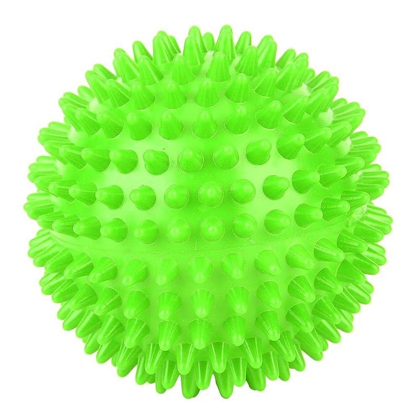 予防接種取り囲むめるフットバックトリガーポイントセラピー、筋筋膜のリリース、および筋肉の回復のためのとがったマッサージボールローラーマッサージャーボール。