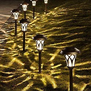 GIGALUMI Solar Pathway Lights Outdoor 6 Pcs Super Bright High Lumen Solar Powered LED Garden Lights for Lawn Patio Yard.