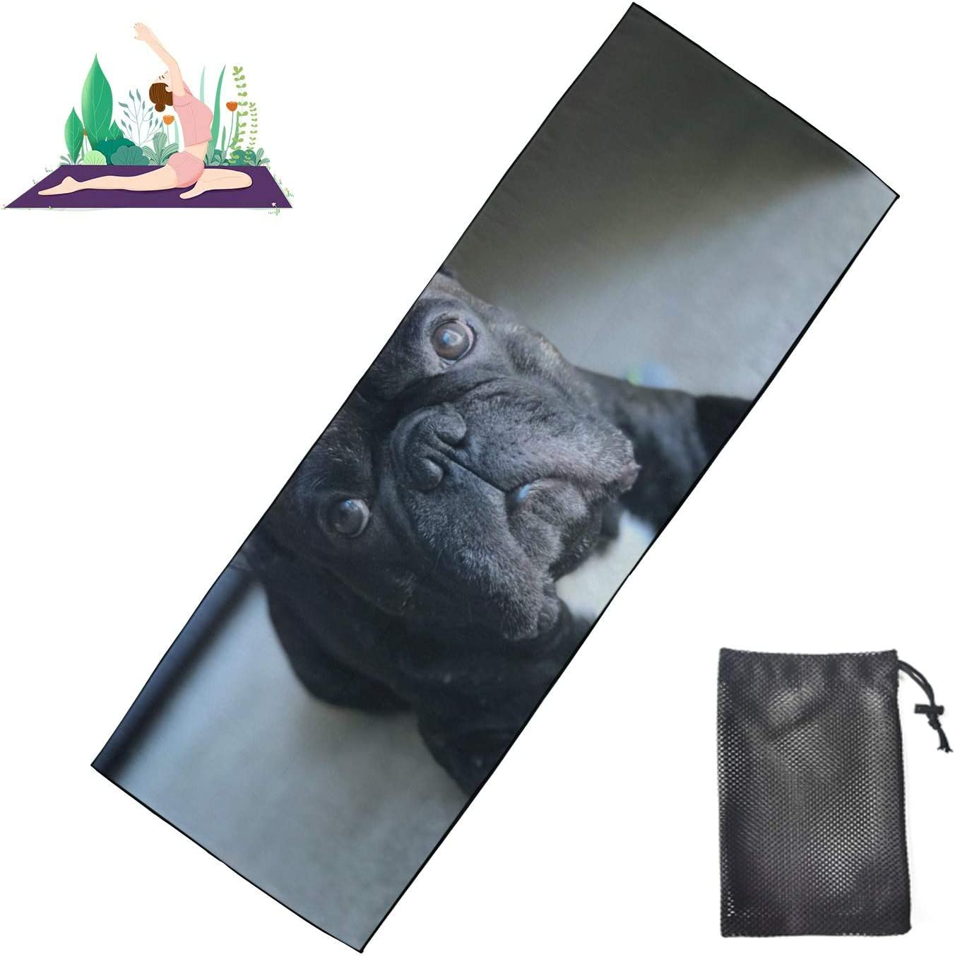 Huqalh Courier shipping free Yoga Mats for Teens Cute Dog Non Sock Puppy 5 ☆ very popular Yog Gift Slip