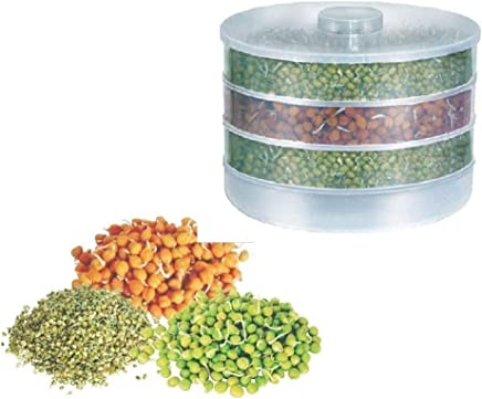 STOP 'N' BUY Plastic Sprout Maker Box | Hygienic Sprout Maker with 4 Container | Organic Home Making Fresh Sprouts Beans for Living Healthy Life